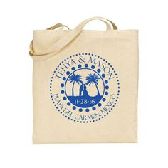 Wedding Tote Bags - Destination or Beach Wedding Out of Town Bags - Personalized Wedding Favors Perfect for Jamaica Punta Cana Mexico by Factory21 on Etsy