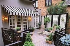 Awnings for homes offer a person protection from the elements