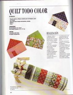 PATCHWORK: curso rápido   Variasmanualidades's Blog Triangles, Baby Quilts, Floral Tie, Patches, Crochet, Quilting, Blog, Magazines, Log Cabins
