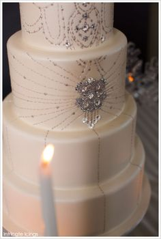 Winter Sequins & Sparkle Cake by Intricate Icings  |  TheCakeBlog.com