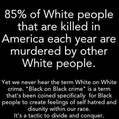 So where is all the outcry about white on white crime?