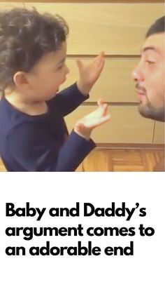 Daddy And Baby End Argument In Adorable Fashion Funny Pins, Funny Memes, Jokes, Laughing Therapy, Weird World, Family Kids, How To Do Yoga, Fun To Be One, Kids And Parenting