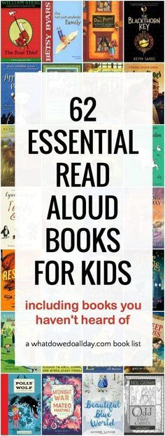 "This list of fantastic books are what I consider essential read aloud books that you won't find on the popular ""best read aloud book"" lists out there."