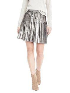 Sequin Pleated skirt