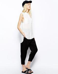 Agrandir Just Female - Pantalon ajusté taille haute