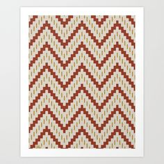 Native-Inspired Pattern Art Print by Hero Design Studio | Society6