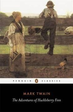 The Adventures of Huckleberry Finn (1884) by Mark Twain. Pap is religious in the sense that he is very superstitious of the devil. He has nails on the bottom of his left boot heel shaped like a cross to ward off the devil. But Pap is a drunkard and is more superstitious than religious. That passage in the book where Pap calls Huckleberry Finn the Angel of Death, Pap also says that there are devils holding him.