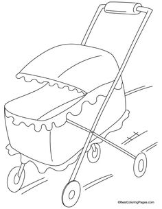 pram coloring page 3 download free pram coloring page 3 for kids best coloring - Free Page 3