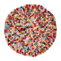 Tapis boules de crochet - Multicolore