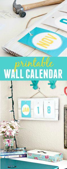A Simple DIY Wall Calendar | MyPrintly - http://myprintly.com/project/a-simple-diy-wall-calendar/