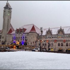 Union Station at Christmas time.