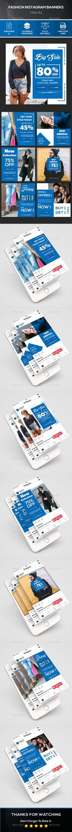 Fashion Instagram Banner Templates PSD