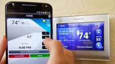 Stay in control of your heating and air conditioner costs by calling a contractor who can put the power in your hands. Smart Home Technology, Technology Updates, Air Conditioner Cost, Home Security Tips, House Fan, Alarm Systems For Home, Outdoor Settings, Heating And Cooling, Information Technology