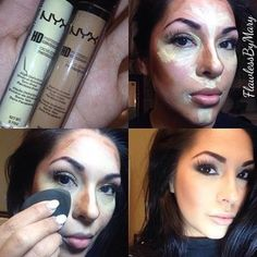 So a lot of you girls have been asking me what I used for my highlight and contouring demo, and here it is!! @nyxcosmetics HD Photogenic Concealer #nyxcosmetics #hdphotogenicconcealer #mua #makeupartist #highlightandcontour | MARY CHAPA | NYX