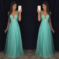 New Arrival Prom Dress,Modest Prom Dress,Stunning Beaded Straps Sweetheart Open Back Long Chiffon Prom Dresses 2017