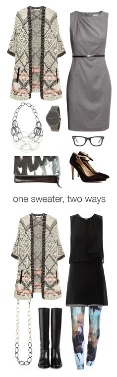 one sweater, two ways: workday to weekend via megan auman