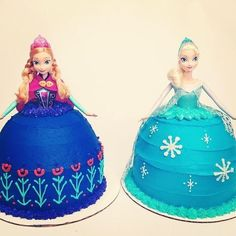 Disney's Frozen: Anna & Elsa cakes!!! Now if i can find the doll in a store!