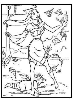 Entwürfe für Gemälde: Malvorlagen Pocahontas Pocahontas-Lackierung