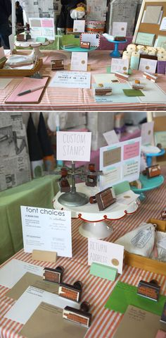 address stamp layout >> cake stands display