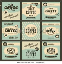 Stock Images similar to ID 166199072 - set of coffee shop sketch...
