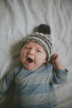 a yawning baby, gets me every time.