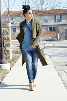 How to Wear an Olive Trench Coat- Lil Miss JB Style