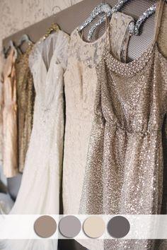 neutral colors inspired sequins bridesmaid dress for fall wedding ideas | thebeautyspotqld.com.au