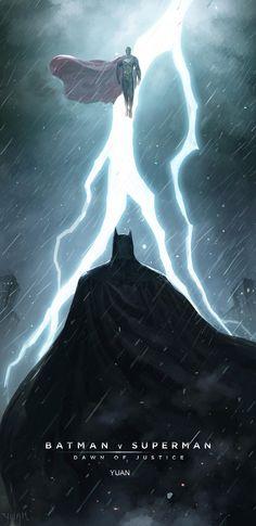 Batman v Superman fan art by a Chinese artist