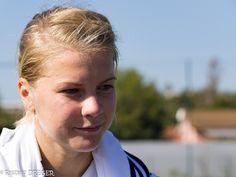Ada Hegerberg at training with Olympique Lyonnais