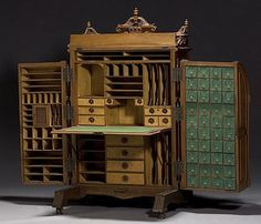 Walnut Wooten Desk~ this lives in my studio of my dreams...maybe I will find one someday!