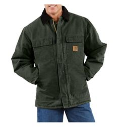Carhartt - Product - Men's Sandstone Traditional Coat/Arctic Quilt-Lined