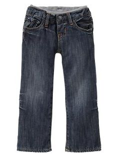 Knit-waist cuffed jeans (medium wash) take home outfit pants ?