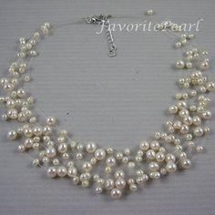 Collar de perlas collares de Dama de honor por FavoriteJewellery