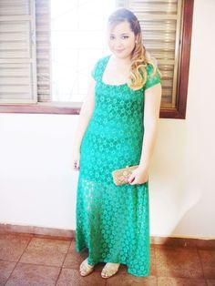 Vestido verde esmeralda(estou vendendo)