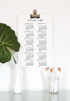 Free Printable 2017 Calendar - full year view with three sizes to choose from! by Thyme is Honey