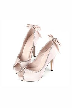 HoneyGirl Peep Toe Heels with Bowknot