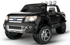 Coche infantil Ford Ranger negro 12v con mando., IndalChess.com Tienda de juguetes online y juegos de jardin