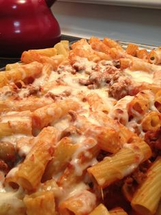 ...that's what she said.: Ground Turkey Baked Rigatoni