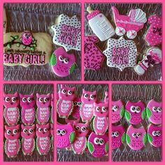 Custom Owl Baby Shower Cookies