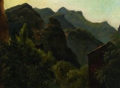 Théodore Rousseau, Side of the Valley of Saint-Vincent, 1830, Oil on paper, 23 x 30 cm, Private Collection