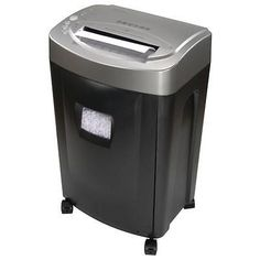 14 Sheet Micro Cut Paper Shredder Integrated Wastebasket Home Office Equipment