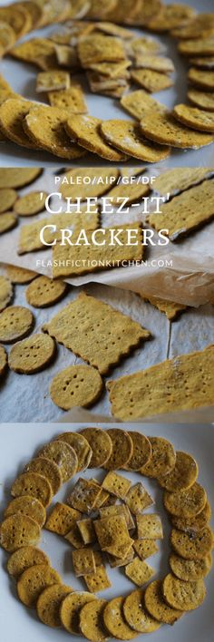 Paleo-AIP 'Cheez-Its' (GF/DF Crackers) from Flash Fiction Kitchen