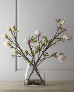 John-Richard Collection Japanese Magnolia Faux Floral Arrangement on shopstyle.com