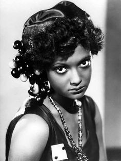 Nina Mae McKinney (June 1912 - May was an American actress. Dubbed The Black Garbo when she worked in Europe, she was one of the first African-American film stars and was one of the first African-Americans to appear on British television. Black History Facts, Black History Month, Black Actresses, Black Actors, Vintage Black Glamour, Famous Black, We Are The World, African Diaspora, Before Us