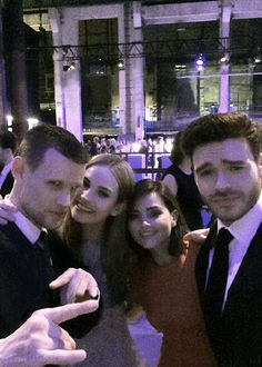 """Matt Smith, Lily James, Jenna Coleman, & Richard Madden // Attending the Cinderella Premiere After Party in Berlin on February 13th, 2015. """