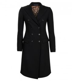 Dolce & Gabbana Black Double Breasted Overcoat from www.profilefashion.com