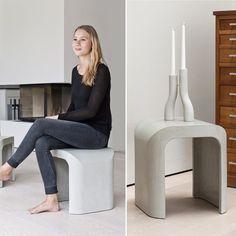Beautiful and versatile the concrete U-Stool designed by @mikaela_doerfel for @intoconcrete. #concretedesign #decor #interiordesign #moderndesign #designstudio