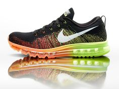 Nike Flyknit Air Max, announced on 2013.10.10 and to be released on 2014.1.3