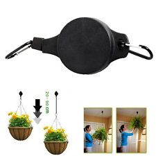 2Pcs Retractable Pulley Hanging Basket Pull Down Hanger Garden Plant Pots  Hook