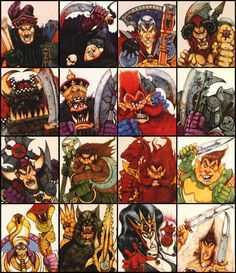 Character studies by Wayne England.